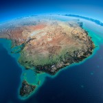 shutterstock_179894774 Australia by satellite