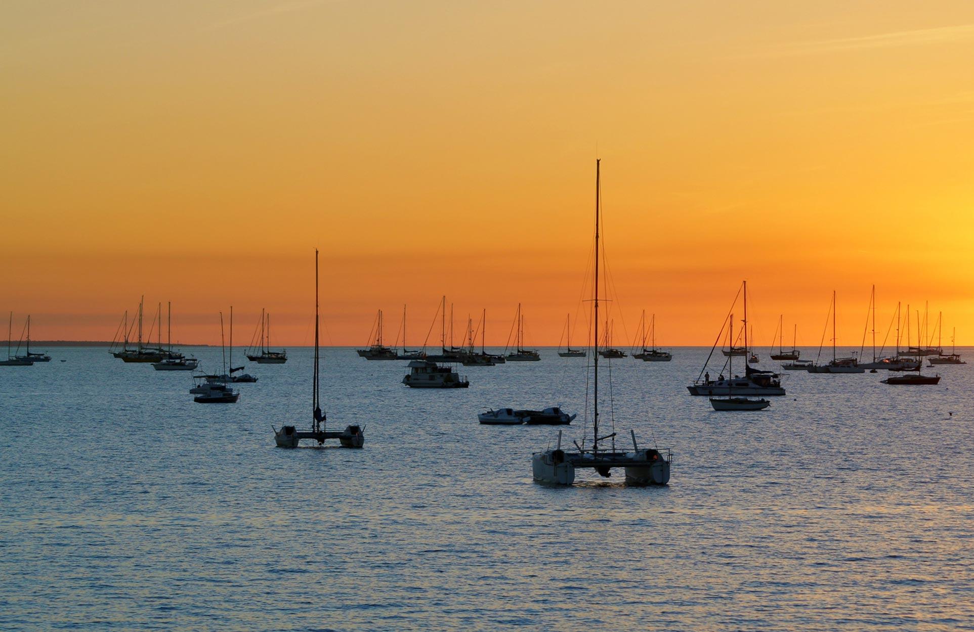 Darwin Boats Sunset